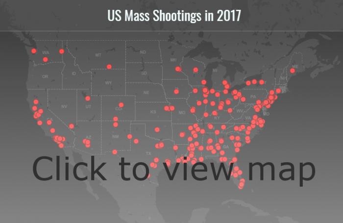 Map – US Mass Shootings in 2017 – Daniel Fourquet